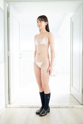 Asami Kondo White Swimsuit Strapless Bikini Bet 2021002