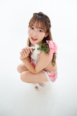 Asami Kondo Swimsuit Gravure Floral Pattern Bikini 2021010