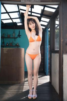 Sarina Kashiwagi Swimsuit Gravure Orange Bikini 34013