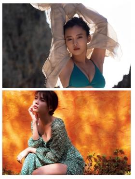 Yume Shinjo Swimsuit Gravure 22 years old on break as Sena Hayami in Kira May Green 2021002