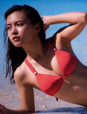 Yume Shinjo Swimsuit Gravure 22 years old on break as Sena Hayami in Kira May Green 2021009