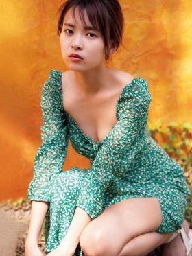 Yume Shinjo Swimsuit Gravure 22 years old on break as Sena Hayami in Kira May Green 2021013