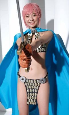 Asuka Kawazu Bikini Armor ONE PIECE RebeccaNefertari Bibi Cosplay 003