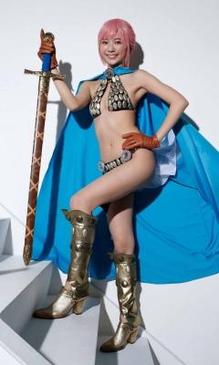 Asuka Kawazu Bikini Armor ONE PIECE RebeccaNefertari Bibi Cosplay 006