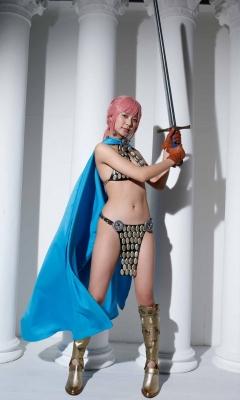 Asuka Kawazu Bikini Armor ONE PIECE RebeccaNefertari Bibi Cosplay 009