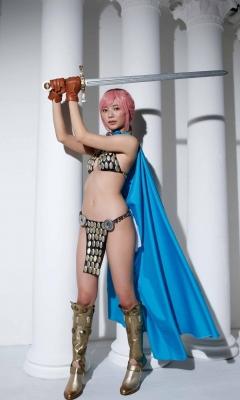 Asuka Kawazu Bikini Armor ONE PIECE RebeccaNefertari Bibi Cosplay 010