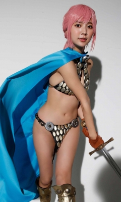 Asuka Kawazu Bikini Armor ONE PIECE RebeccaNefertari Bibi Cosplay 011