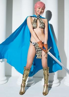 Asuka Kawazu swimsuit gravure ONE PIECE cosplay Bibi and Rebecca m008