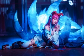 Cosplay Swimsuit Style Costume League of Legends NineTailed Fox Yuno Shimizu003