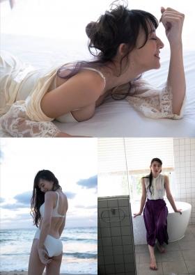 Yukari Oshima Swimsuit Bikini Gravure Former Fuji TV Announcer 2021003