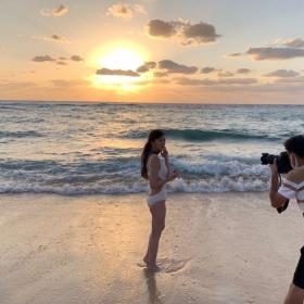 Yukari Oshima Swimsuit Bikini Gravure Former Fuji TV Announcer 2021022