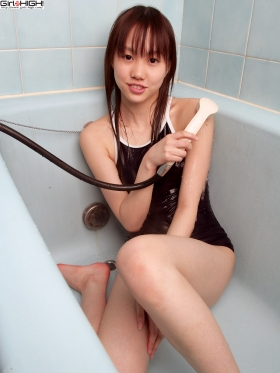 Yurika Gike School swimsuit gravure033