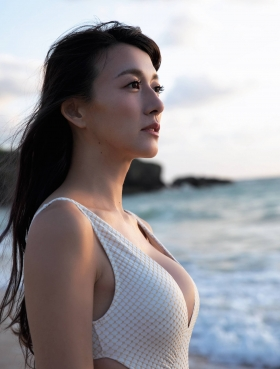 Yukari Oshima Swimsuit Bikini Gravure Former Fuji TV Beauty Announcer006