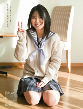 Aika Sawaguchi Swimsuit bikini gravure High school graduation last uniform 2021015
