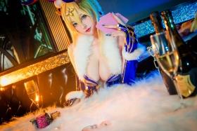 Cosplay Bunny Girl Saber Artoria Pendragon002