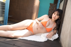 Sarina Kashiwagi Swimsuit Gravure Orange Bikini Vol2014