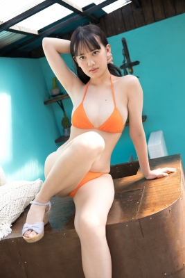 Sarina Kashiwagi Swimsuit Gravure Orange Bikini Vol2020