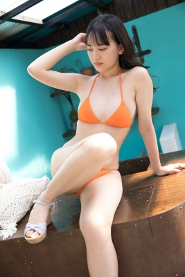 Sarina Kashiwagi Swimsuit Gravure Orange Bikini Vol2023