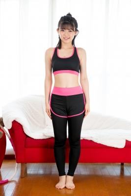 Risa Sawamura Training Wear Balance Ball002