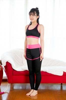 Risa Sawamura Training Wear Balance Ball003