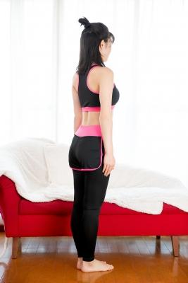 Risa Sawamura Training Wear Balance Ball007