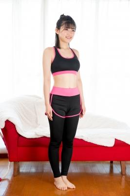 Risa Sawamura Training Wear Balance Ball009