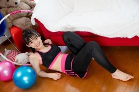 Risa Sawamura Training Wear Balance Ball033