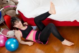 Risa Sawamura Training Wear Balance Ball034