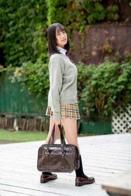 Sarina Kashiwagi School Uniform and Swimsuit005