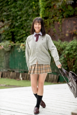 Sarina Kashiwagi School Uniform and Swimsuit011