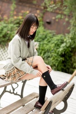 Sarina Kashiwagi School Uniform and Swimsuit018