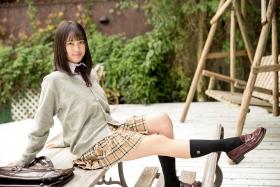 Sarina Kashiwagi School Uniform and Swimsuit021