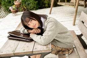Sarina Kashiwagi School Uniform and Swimsuit029