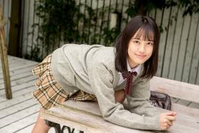 Sarina Kashiwagi School Uniform and Swimsuit048