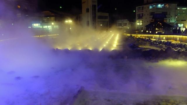 20210204夜の湯畑