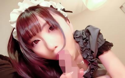 【成宮ほのか】アキバ系の激カワ美少女をナンパ!メイドコスプレをさせて生チンポぶち込むハメ撮りセックス、フィニッシュは半外半中出し!!