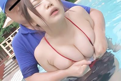 【企画】真夏のプールに遊びに来た巨乳ビキニ娘を狙う鬼畜男・・・どこまでも付け回し、プール内で無理やりチンポをねじ込む激ピストンレレ○プ!!