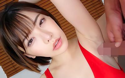 【深田えいみ】大喜利女優、超絶カワイイ巨乳美少女のワキマンコにチンポを擦りつけてザーメンぶっかける!