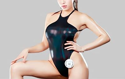 【永井マリア】「中に出さないで!」超絶カワイイ巨乳お姉さんが身体にぴったりとフィットするハイレグコスプレ衣装で犯される完全着衣の中出しセックス!