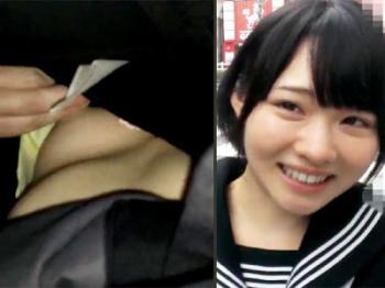 ガチの満員電車で集団痴○…マジで可愛い女の子に制服を着せて乳首露出させながら弄るw