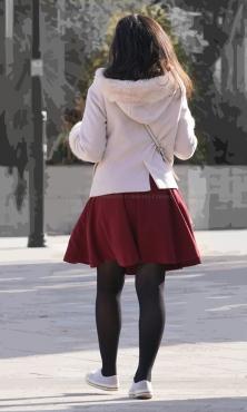 色艶とむっちり具合が素敵な黒タイツ