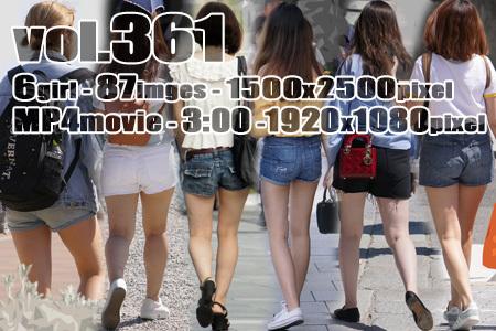 vol361-美尻を強調するデニムのショートパンツ【MP4動画付】