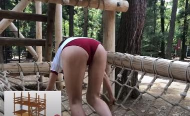 清水公園のアスレチックで羞恥な姿を晒すブルマ(体操着)コスプレをしたグラビアアイドルの緒方咲#5