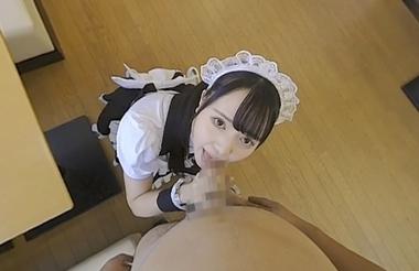 【VR】手コキフェラご奉仕するメイドコスプレの朝日しずく【本サロレストラン】
