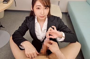 【VR】ち〇ぽを弄ぶスーツ姿の蓮実クレア
