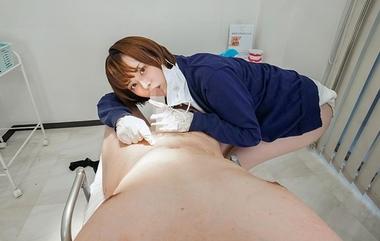 【VR】手コキご奉仕する歯科助手コスプレの月乃ルナ