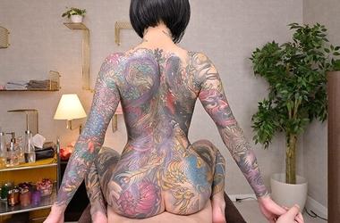 【VR】全身タトゥーの極彩色エステティシャンな桜雅凛#5