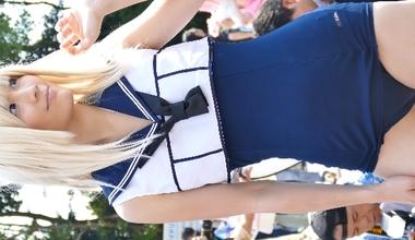 【ワンダーフェスティバル】セーラー服風のスクール水着コスプレをしたアニコス美少女のぽぷり【艦これ/呂500】#2