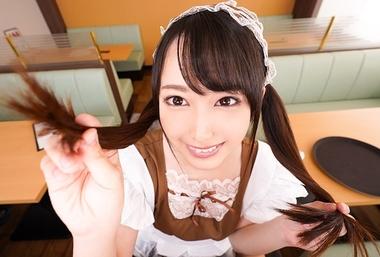 【VR】ウェイトレスコスプレをした黒髪ツインテール美少女【弥生みづき】
