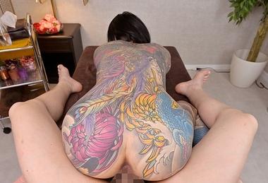 【VR】全身タトゥーの極彩色エステティシャンな桜雅凛#6